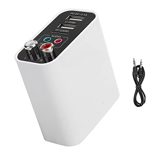Transmisor Bluetooth, Adaptador Bluetooth Calidad de Sonido estéreo HD 2.1A Carga rápida USB Dual para teléfonos móviles para tabletas(Standard Edition, Transl)