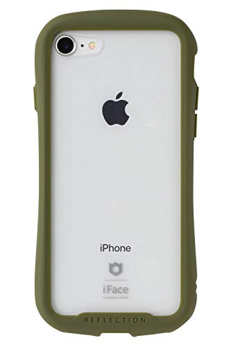 iFace Reflection iPhone SE 2020 第2世代/8/7 ケース クリア 強化ガラス [カーキ]