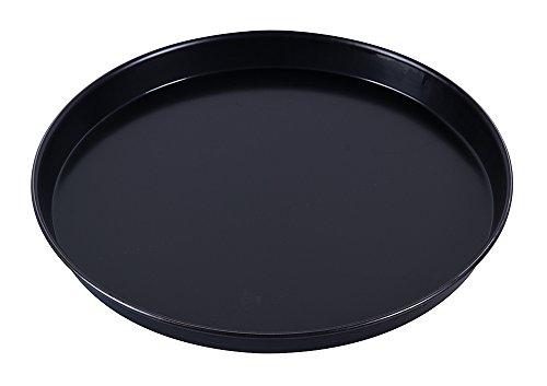 Paderno 11740-32 Teglia rotonda antiaderente per pizza, bordi alti, realizzata in lamiera bluita (ferro blu), resistente fino a 280°, 32 cm ø x 2,5 cm (altez.)