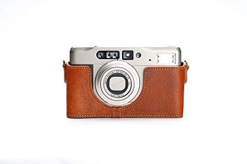 Zakao Kameratasche für Contax TVS II, handgefertigt, echtes Leder, mit Handschlaufe