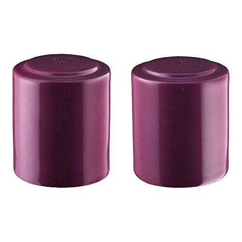 Seltmann 001.659333 Meran porseleinen set zout en peper, rond, paars, 23605 lavendel eenkleurig decor, 4,8 cm diameter, 5,5 cm hoogte