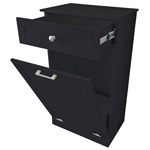 Tilt Out Trash Bin Cabinet or Laundry Hamper Made in USA by Northwood Calliger! Solid Workmanship and New 2021 Design Cuts Assembly Time in HALF! Hide Ugly Trash and add Countertop Space