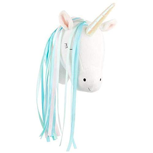 EDCV Doll Gifts Kinderen Slaapkamer 3D Dierenkop Decor Muur Kinderkamerdecoratie Opknoping Knuffels Knuffel, Wit