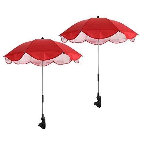 Aiecis Sonnenschirm zum Anklemmen, groß, 2 Stück