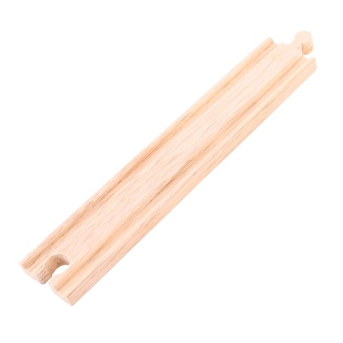 Bigjigs Rail Long Straights (Pack of 4) - Other Major Wooden Rail Brands are Compatible