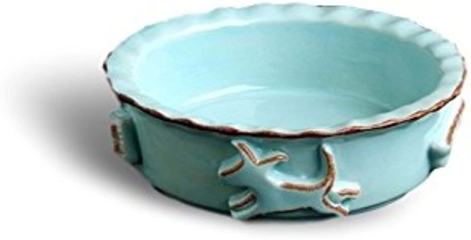 Carmel Ceramica PDSB3003 Dog Food Water Bowl, Baby bluee, Small