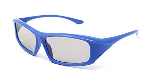 Ultra 1 Pair of Blue Adults Passive 3D Glasses for TV Men Women Polarized...