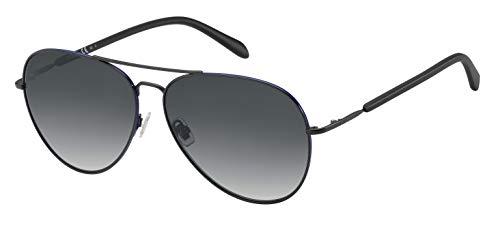 Fossil Trace Aviator Sunglasses FOS3104 (Matte Black, Dark Gray)