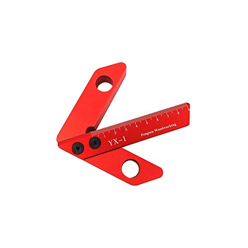 Jiakalamo 45/90 ° Medidor de línea Centro Finder Herramienta de medición Carpintería Cuadrado Centro Scribe Regla