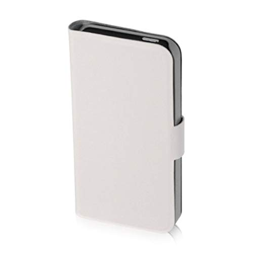Insten Stand Folio Flip Leather Case Cover Compatible with Apple iPhone 5/5S/SE, White
