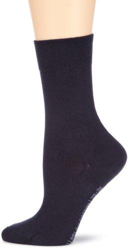Hudson RELAX COTTON Damen Socken, Baumwollsocken Damen ohne Gummibund, Frauen Socken mit verstärkter Sohle (hautfreundlich, viele Farben) Menge: 1 Paar, Blau (Marine 0335), Gr. 39-42