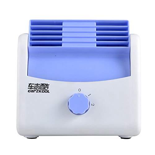 sahnah Ventilador del ventilador del aire del automóvil Ventilador de enfriamiento silencioso de velocidad ajustable Aire acondicionado del automóvil azul 12V