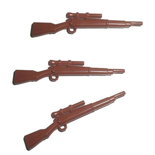 3X M1903 A4 Scharfschützen Karabiner Gewehr der USA im WW2 - Custom Soldaten Waffe für Lego Figuren