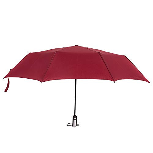 Paraguas de mujer Paraguas plegable Paraguas de 10 piezas resistente Hueco automático Repelente al agua Ligero Temporada de lluvias Buen momento Fuera del agua Buena Simple Unisex paraguas 5 colores M