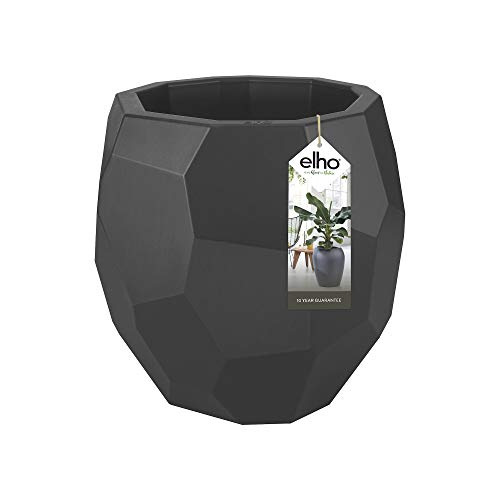Elho Pure Edge Flower Pot, Anthracite, 40 cm