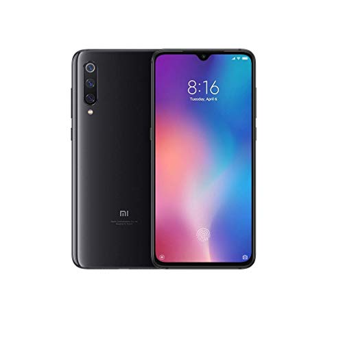 "Smartphone Xiaomi Mi 9, 64 GB, display AMOLED 6.39, ""2280x1080, octa-core Snapdragon 855, 6 GB RAM, câmera + Triplo 48 16 12 + MP, Preto Onyx [versão italiana]"