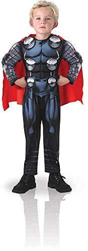 Avengers - Disfraz de Thor Deluxe para nio, 5-6 aos (Rubie's 610736-M)