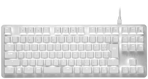 Razer BlackWidow Lite JP Mercury White メカニカルキーボード ゲーミングキーボード 静音 オレンジ軸 テンキーレス 日本語配列 【日本正規代理店保証品】 RZ03-02640800-R3J1
