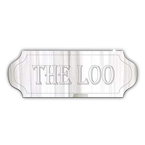 Mirrors-Interiors THE LOO Door-Plaque 20x 7.5cm-VINTAGE Font Signage-Personalised-Door-Name-Sign-Boy-or-Girls-Bedroom- Any Room
