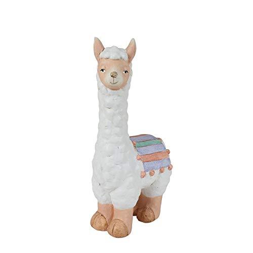 BURI Deko Figur Lama 41cm Dekofigur Tischdeko Fensterdeko Tierfigur Kamel Dekoration