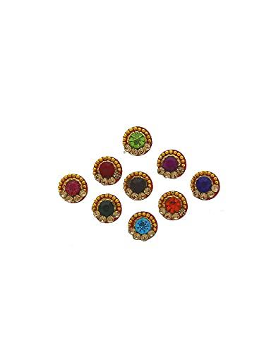 Anuradha Art Jewellery Richie Rich Multi Colour Round Shape Stone...
