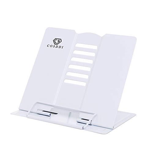 CS COSDDI Leseständer Kochbuchhalter Bücherständer Book Stand für Lesen,Küche und Büro (Weiß)
