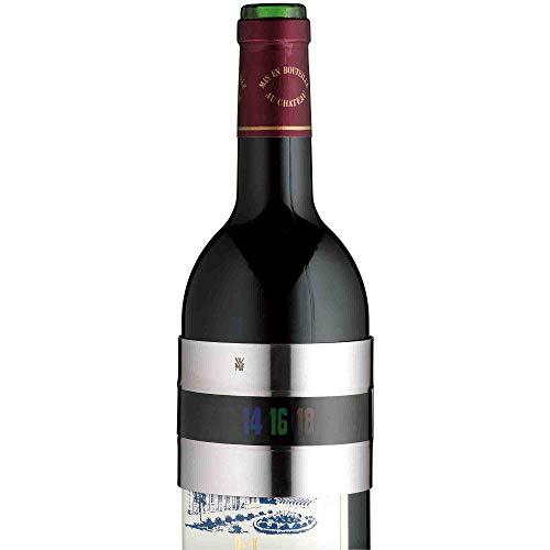 WMF Clever&More Clip-Weinthermometer analog, Cromargan Edelstahl, Schnelle Kontrolle, Thermometer für Rotwein Weißwein Rosé Sekt Champagner