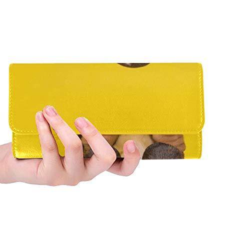 Único Personalizado Adorable Basset Hound Cachorro Perro Sentado Mujeres Monedero Monedero Largo...