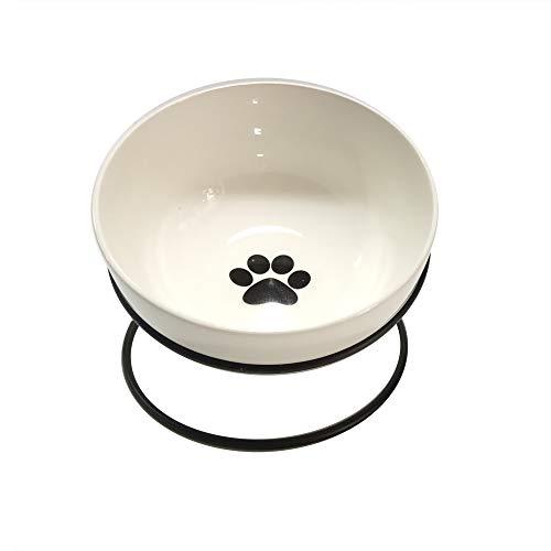DANXQ Bodenstehender runder Eisen-Futternapf für Katzen, Hunde, Kaninchen, Keramik, 14 x 8,7 cm