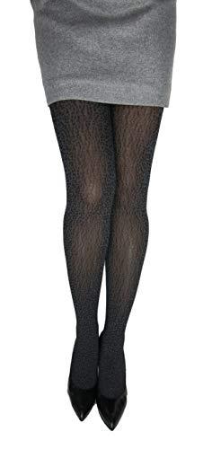 Marilyn ondoorzichtige zwarte panther look panty 60 denier