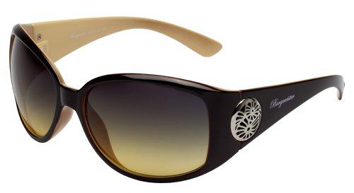 Schöne Marken Sonnenbrille für Damen von Burgmeister mit 100% UV Schutz | Sonnenbrille mit stabiler Polycarbonatfassung, hochwertigem Brillenetui, Brillenbeutel und 2 Jahren Garantie | SBM129-241