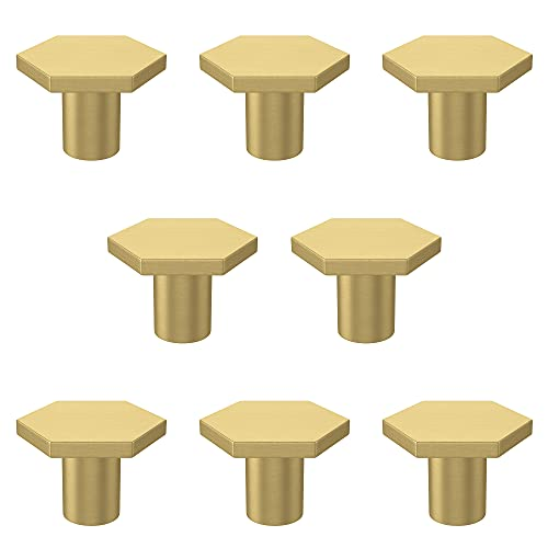 RZDEAL 1-1/5' Solid Brass Hexagon Kitchen Cabinets Knobs Home Office Decoration Hardware Handles and...