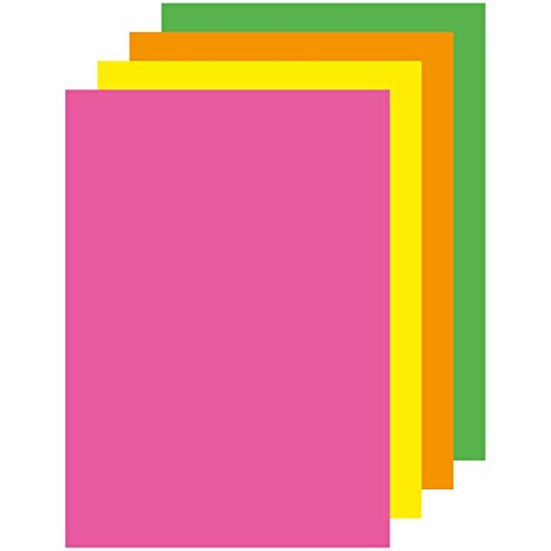APLI 15287-Papel color surtido fluorescente A4 500 hojas