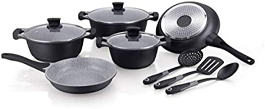 Winsor 11 Pieces Cast Aluminum Non-Stick Cookware Set - Black, WR6011