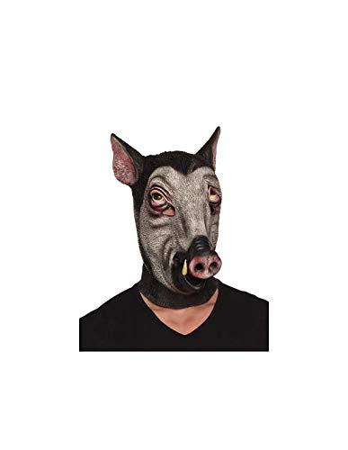 DISBACANAL Latex Wildschwein Maske