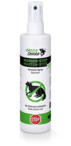GreenShark Marder STOP Marderabwehr Spray 250ml - Biologisch abbaubares Marderspray, Effektiver Marderschutz für Auto, natürliche Alternative zu Marderschreck, Marderfalle, Mardergitter