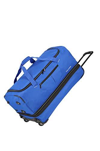 travelite 2-Rad Trolley Reisetasche Gr. L mit Dehnfalte, Gepäck Serie BASICS: Weichgepäck Reisetasche mit Rollen mit extra Volumen, 096276-21, 70 cm, 98 Liter (erweiterbar auf 119 Liter), royal blau