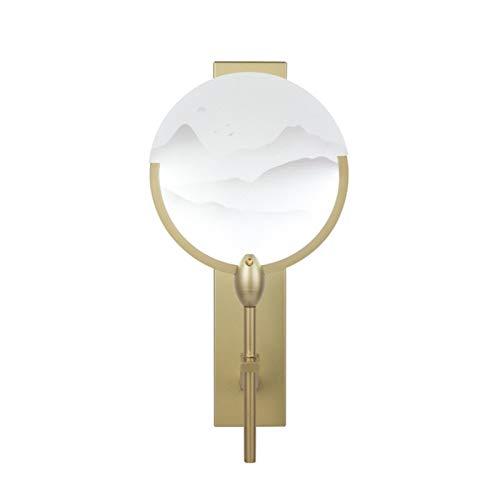 YXLMAONY Lámpara de pared de un solo cabeza de estilo chino, lámparas decorativas de pared de la pared de la sala de estar, iluminación interior, lámpara de hierro forjado Lámpara de acrílico acrílico