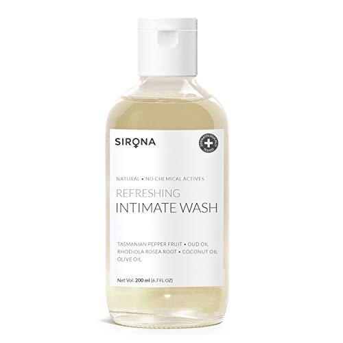 Sirona Natural Refreshing Feminine Wash - 6.7 Fl Oz(200 ml)| No Chemical, No Irritation, pH Balanced Intimate Wash, Helps to Reduce Odor and Itching