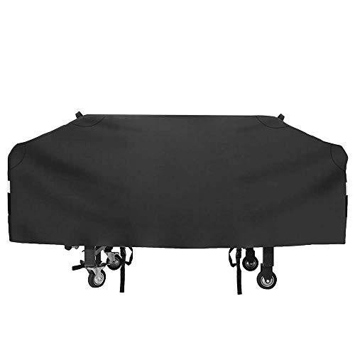 Uniflasy 36 inch Griddle Cover for Blackstone Flat Top 4 Burner Grill Griddle Station, Outdoor Camp Chef Flat Top Grill for Most 4 Burner Flat Top Griddle Waterproof Griddle Cover with Support Pole