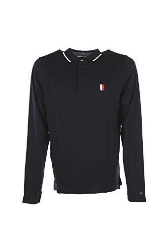 Tommy Hilfiger Herren Slim fit Flex icon Langarm Poloshirt Marine XXL