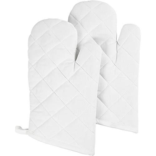 Creativ Company 444621 Topflappen und Ofenhandschuh Kitchen Gloves weiß Baumwolle