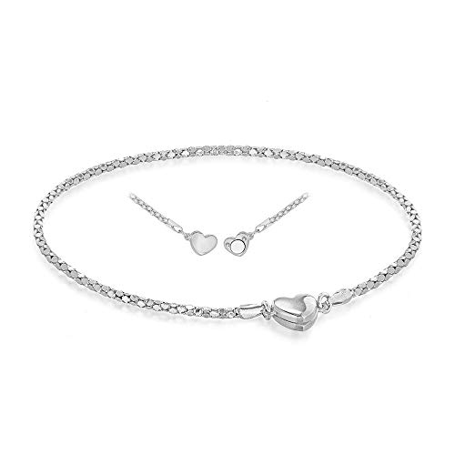 TJC Link Chain Bracelet for Women 925 Sterling Silver Size 7.5'