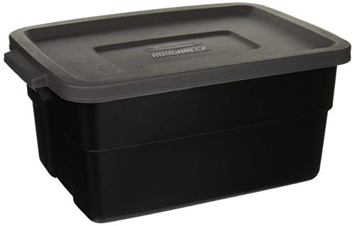 Rubbermaid RMRT030010 Roughneck Storage Box44, 3 Gallon, Gray -  6137053