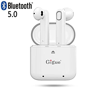 Gigue Wireless Bluetooth Earbuds V4.2 Ture Wireless Stereo (TWS) In Ear Sports Bluetooth Earphone/Headset/Earphones with Charging Box for iPhone