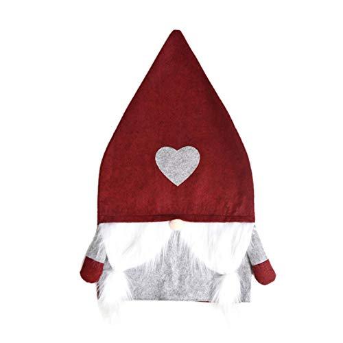 adfafw Funda para silla de Navidad Nordic Foresters Protector de silla de comedor de Navidad, fundas de respaldo para banquete de Navidad, festividades, decoración estándar