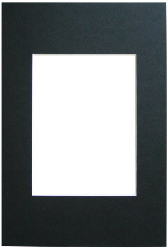 Walther Design PA051B, marcos de fotos Paspartú, formato passepartout 40 x 50 cm, formato de imagen 30 x 40 cm, negro