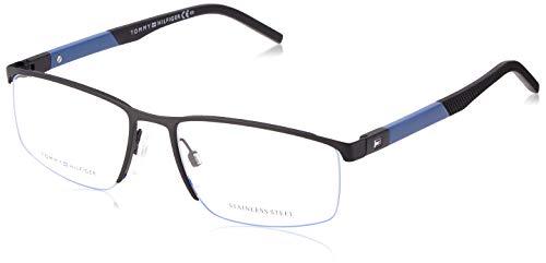 Tommy Hilfiger Brille (TH-1640 D51) Acetate Kunststoff - Metall schwarz matt - blau