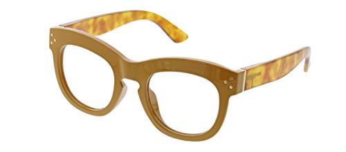 Peepers by PeeperSpecs Women's Bravado Non Polarized Oversized Reading Glasses, Mustard/Honey Tortoise, 1.5
