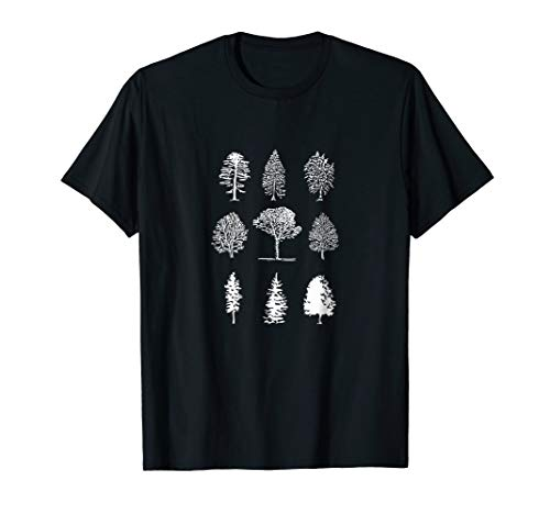 Tree Diagram T-Shirt - Cool Nature Trees Graphic Tee